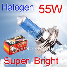 2pcs H7 Super Bright White Fog Halogen Bulb 55W Car Head Lamp Light 12V car styling car light source parking h7 55W(China (Mainland))