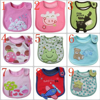 10pcs/lot free shipping Baby bib Infant saliva towels carter's Baby Waterproof bib Mark Carter Baby wear