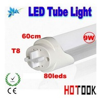 3014 LED Tube Lamp T8 9W 3014smd 600mm 60CM 80leds ligth Lighting 85V~265V warranty 2 years CE RoHS x 25PCS - ship via express