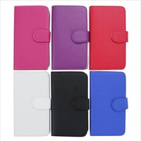DHL Free Shipping Colorful Wallet PU Leather Flip Cover Pouch with Credit ID Card slot For Samsung Galaxy S3 i9300 500Pcs/Lot
