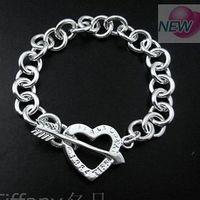 925 Silver Bracelet-TTSB52 925 Silver Charm Bracelets,2013 New AAA+,Wholesale Fashion Jewelry,Free shipping,Bracelet Jewelry
