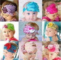 2013 new.Feather and rhinestone headband. Baby Headbands. Po Prop. Headband. Baby Bows..hot sale