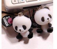 2013 new.I LOVE PANDA Charm Strap for Cell Phone iPod .  Camera strap . 2pcs.pair . MP4. pens child pendant .hot sale