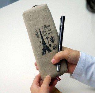 2013 new.Paris memory pens child pencil bag.Cosmetic Case.cotton bag.pouch.Storage Bags.     .hot sale