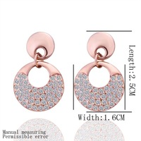 18k Gold Plated Earring High Quality Rhinestone Crystal Earrings Wholesale Fashion Jewelry lkn18krgpe302