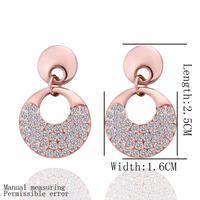 18k Gold Plated Earring High Quality Rhinestone Crystal Earrings Wholesale Fashion Jewelry lkn18krgpe302