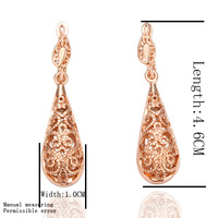 Free shipping , 18k gold plated earring , High quality!18k gold earrings,wholesale fashion jewelry earrings lkn18krgpe016