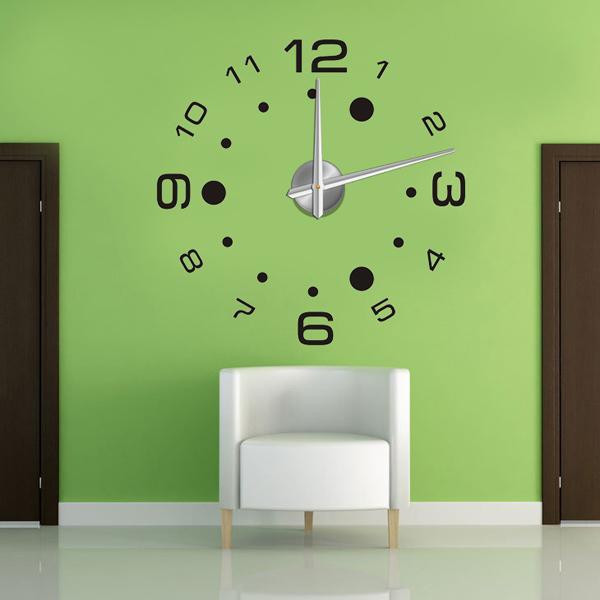 Home decoration!large digital wall clock Modern design,decorative wall art watch,unique gift !F44(China (Mainland))