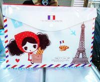 2013 new.    gift girl A4 documents file bag . cartoon File folder .  Filing Production.hot sale