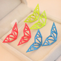0467 Min.order is $8 (mix order) Fashion Jewelry Vintage Exaggerated Hollow Out Candy Color Stud Earrings For Women