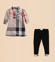 6set/lots children Kids clothing sets child long sleeve t shirt collar loose + long pants suits c0033