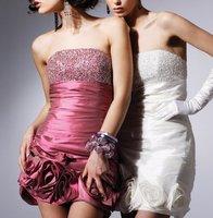 2013 New Sexy Fashion Mini Strapless Beading Taffeta Cocktail Dresses C92084