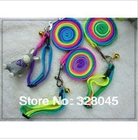 Free shipping 10pieces/lot  Colorful collar traction rope dog chain pet collar traction rope