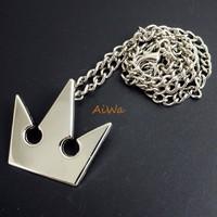 Kingdom Hearts METAL  Sora Crown Pendant Necklace JP