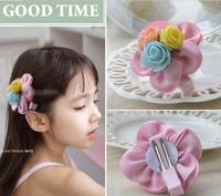 Freeshipping! New Lovely Kids/Children/Baby/Girl/Princess Three Rose Flower Hair Clips/Hairpins/Hair Claws/Hair Accessories