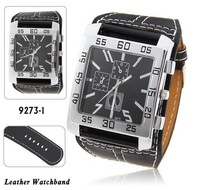 Free shipping,nick men's quartz wrist watch with water resistant square shaped dial
