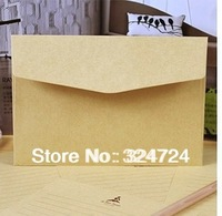 Freeshipping 16x11cm Retro Style High quality Blank Kraft Envelops Natural color Plain Kraft Paper Gift Envelop 100pcs/lot sale