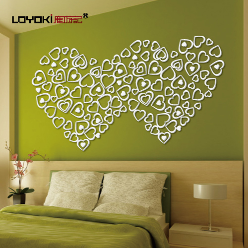 Free Shipping Travelogue deer heart three-dimensional wall stickers ofhead beijingqiang love new house wall decoration(China (Mainland))