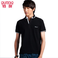 2013 summer male turn-down collar t-shirt short-sleeve men's clothing