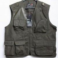 Cotton patch 2013 three-dimensional pocket slim fashionable 100% men's casual cotton clothing photography vest