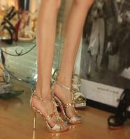 Summer high heels banquet female sexy open toe platform luxury women's  shoes