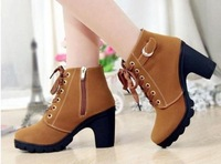 2013 new Winter shoes nubuck leather women boots thick with high-heeled boots snow boots