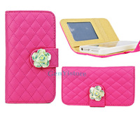 High Quality  Flower Style FLIP PURSE Card holder Wallet Case Cover for iphone 5 5G