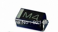 FREE SHIPPING 100 PCS  M4 DO-214AC SMA 1N4004 IN4004 SMD 1.0A 400V