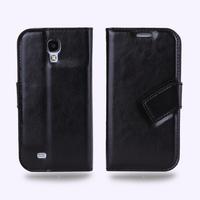 Black  Italian Luxury PU leather Flip Card Cover Case For SAMSUNG GALAXY S4 i9500