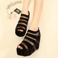 2013 women's shoes open toe shoe cool boots platform wedges sandals