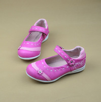 2013 beautiful girls shoes female single shoes child pink princess shoes genuine leather liner quality female child leather