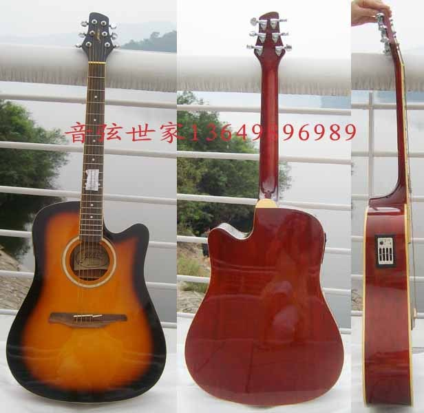 String 41 electric box folk guitar sunset color bakelite guitar speaker electric(China (Mainland))