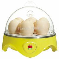 High Quality!! Cute Mini Egg Incubator 7 Chicken Bird Eggs Hatching Machine Mini Egg Incubator Free Shipping! EGG-001