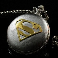 Silver Super Men Pocket Watch