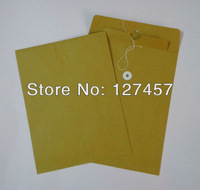 blank Kraft Paper file document bag/envelope/holder 500pcs 5x7 inches with eyelet and string