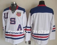 Free shipping,Ice hockey 2010 USA team jersey discount,h quality,can mix order