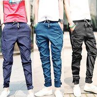 Free shipping  new 2013 autumn/winter, Japan and South Korea leisure screw-type design men leisure small leg pants