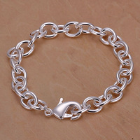 Free Shipping Wholesale 925 silver bracelet, 925 silver fashion jewelry Shrimp Lock Thick Bracelet H089