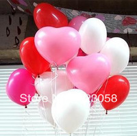 400pcs/Lots! Factory wholesale! 10'' Heart-type Pearly luster balloons,Festival Balloons,Wedding,Celebration,Party,Big events