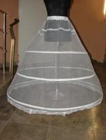 3-HOOP Ball Gown BONE FULL CRINOLINE PETTICOAT WEDDING SKIRT SLIP