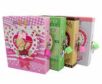 Cartoon scented diary lock the box lockable notebook 70