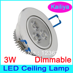 8 pcs/lot Dimmable 3W LED Ceiling Light Warm white lighting CE RoHS 2 years warranty(China (Mainland))