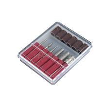 6x Professional Nail Manicure brocas Bits arquivos Nail Art salão de beleza Set Kit hv(China (Mainland))