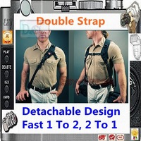 Carry Speed Detachable Design Quick Pro Double Shoulder Strap For Two Cameras DSLR PB070