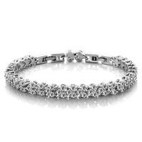 Korean Fashion Jewelry AAA Grade Zircon Crystal Bracelet Rome Free Shipping