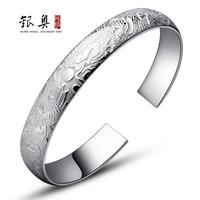 S999 999 fine silver pure silver bracelet female silver hand ring female silver jewelry