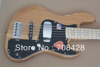 free shipping active pickups circuit pickups system included alder wood 5 string jazz bass guitar new arrival natural color AAA