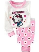 5% OFF 6sets/lot (1design x 6 sizes) Baby Girls Autumn Pajamas Children Sleepwear Children Clothes Set