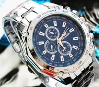 50pcs  ORLANDO SPORT WATCHES QUARTZ HOURS DATE HAND LUXURY CLOCK MEN STEEL WRIST WATCH