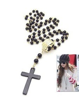 Min.order is $10 (mix order) SJB314 Fashion vintage beads Cross Necklace SUPER DEALS NECKLACE SUPER DEALS JEWELRY